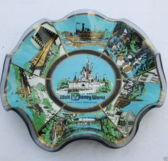 "Vintage 1960s Walt Disney World ""The Magic Kingdom"" Black Glass Souvenir Plate #Disney #Souvenir #MagicKingdom http://www.ebay.com/itm/-/121421378123?roken=cUgayN via @eBay"