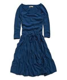 Look what I found on #zulily! Iceland Blue Drawstring A-Line Dress #zulilyfinds