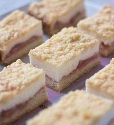 Raikkaat raparperileivokset No Bake Pies, No Bake Cake, Baking Recipes, Cake Recipes, Rhubarb Recipes, Sweet Pastries, Pastel, No Bake Desserts, Diy Food