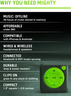 Mighty is the first and only device that takes your streaming music on-the-go without a smartphone. Finally.