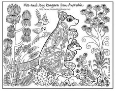 Image result for aboriginal animal colouring pages