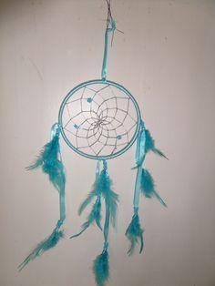 To catch bad dreams, hang dream catcher in your bedroom, and they will get caught in the webbing, say the Native Americans, and who are we to argue?  This one is so pretty! £6.99 from Green Goddess Earth, including postage and packaging.    http://www.greengoddessearth.co.uk/