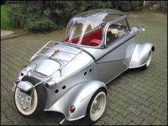 The FMR Tg500 (1958-1961) was a sports car built by Fahrzeug- und Maschinenbau GmbH, Regensburg (FMR) from 1958 to 1961. Based on the Messerschmitt Kabinenroller monocoque, which otherwise was a platform for three-wheelers, the Tg500 was a four-wheeled car with a two-stroke straight-two engine. FMR had taken over production of the KR200 from Messerschmitt in 1956. While the KR200 still used the Messerschmitt name & logo, the Tg500 was badged as a FMR.