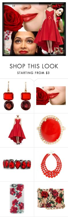 """""""Red rose 🌹🌹🌹"""" by mmsbeg ❤ liked on Polyvore featuring Irene Neuwirth, Zac Posen, Casetify, Dolce&Gabbana and OKA"""