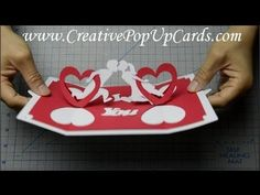 How to make a Valentines day pop up card: Twisting Hearts - YouTube