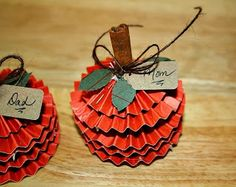 Hi everyone! Pattie here with some cute pumpkin name cards that are perfect for the upcoming holidays. Every year, I make all of the place cards for Thanksgiving and Christmas dinner and these are the ones that I made last year. They are super simple and take only a few...