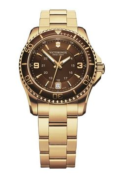 Victorinox+Swiss+Army®+'Maverick+GS'+Two+Tone+Bracelet+Watch,+34mm+available+at+#Nordstrom