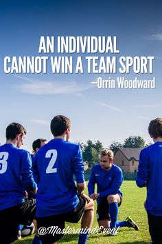 #DirectSelling is a team sport. WORK with your team so you can WIN as a team. MastermindEvent.com #OrrinWoodward #Team #Quote