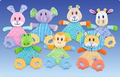 #Nuby Teething Characters. Soothing and colorful for baby!