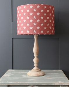 Star Scarlet Drum Lampshade