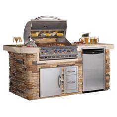 Cal Flame PV6014 BBQ Grill Island