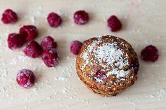 Muffins de coco y frambuesa