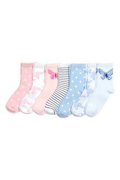 Lot de 7 paires de chaussettes - Blanc - ENFANT | H&M FR 1