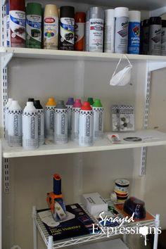 Tools of the Trade.   Photo © SprayedExpressions. Plutonium™ Paint. #SprayPaint #Art #MadeInTheUSA @Sivan Behar http://www.etsy.com/shop/SprayedExpressions