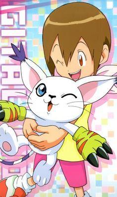 Gatomon et Kari - Digimon Ocelot, Ghibli, Digimon Adventure Tri., Digimon Wallpaper, Digimon Tamers, Digimon Digital Monsters, Otaku, Cartoon Tv Shows, Story Arc