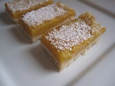 Double Lemon Bars - adapted from Bon Appetit Magazine for high-altitude baking. From Chef Megan Joy in Colorado.