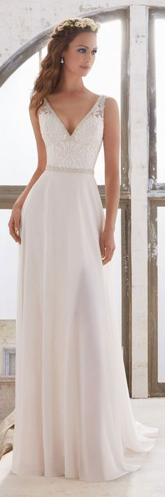 Morilee by Madeline Gardner - Blu Wedding Dresses 2017 / http://www.deerpearlflowers.com/morilee-by-madeline-gardners-blu-wedding-dresses-collection/4/ #weddingdress