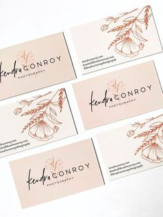Kendra Conroy Photography Collateral Print Business Cards – My Friends Page Logos Photography, Photography Business Cards, Creative Photography, Logo Design, Layout Design, Web Design, Identity Design, Business Logo, Business Design