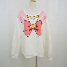 L-XL Plus Size Chibi Moon Jumper Exclusive Selling! Full Payment Reservation For Chibi Moon Pink Bow Fleece Jumper Top Free Ship SP141185