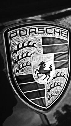 Cool Black & White Porsche Badge. Hit 'like' if you love