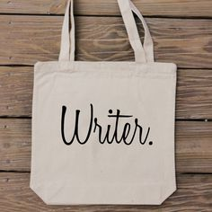 Writer Tote Bag  Simply Chic Canvas Bag  by HandmadeandCraft, $15.99