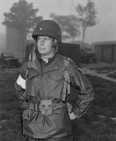 Brigadier General Gerald Higgins, assistant division commander for the 101st Airborne Division. The photo was taken in England just before the 101st dropped into Holland during Operation Market-Garden on September 17, 1944.