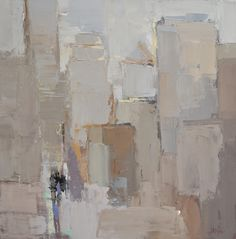 """Barbara Flowers, """"City Shapes I"""" - 24x24, oil on canvas--at Principle Gallery"""
