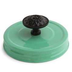 Cosmo Cricket - Show Toppers - Mason Jar Green Lid with Black Knob at Scrapbook.com