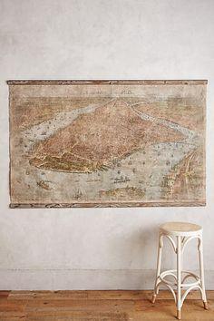 Relic City Map, NYC - anthropologie.com