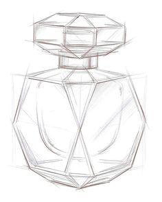 how to draw a perfume bottle ile ilgili görsel sonucu Cute Easy Drawings, Pencil Art Drawings, Art Drawings Sketches, Easy 3d Drawing, Drawing Ideas, Art Du Croquis, Bottle Drawing, Still Life Drawing, Object Drawing