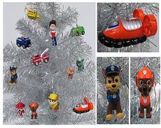 PAW PATROL 12 Piece Christmas Ornament Set Featuring Skye Marshall Chase Rubbie Zuma Rocky Ryder and Vehicles Ornaments Average 1 to 25 Tall Great for a Mini Christmas Tree >>> Click image for more details. (This is an affiliate link) Christmas Tree Prices, Christmas Trees For Kids, Unique Christmas Decorations, Christmas 2016, Christmas Time, Christmas Ideas, Xmas, Holiday Decor, Paw Patrol Christmas Ornaments