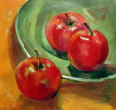 12 x 12 inches - Decorative - Still life Apple - oil on canvas painting art - Gift idea by ChiangPaintingArt on Etsy L'art Du Fruit, Fruit Art, Apple Painting, Fruit Painting, Painting Art, Paintings, Painting Still Life, Still Life Art, Image Halloween