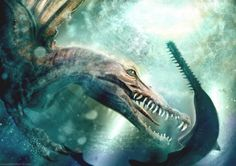 Spinosaur us aegyptiacus by Rosemary Chalmers