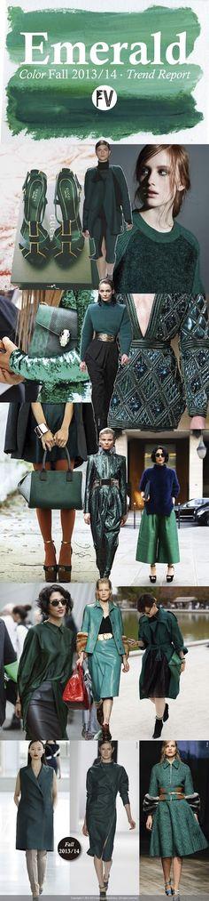 Trend Fall 14 FASHION VIGNETTE: [ TREND REPORT ] EMERALD by Marina Araujo Alvarez ..swept away emerald