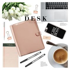 """""""The Desk"""" by emmy ❤ liked on Polyvore featuring interior, interiors, interior design, home, home decor, interior decorating, Rifle Paper Co, Casetify and Faber-Castell"""