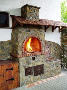 36 ideas backyard ideas bbq pergolas for 2019 Outdoor Stove, Pizza Oven Outdoor, Outdoor Cooking, Backyard Kitchen, Backyard Bbq, Backyard Ideas, Outside Living, Outdoor Living, Outdoor Kocher