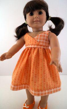 American Girl Orange Sundress. $18.00, via Etsy.