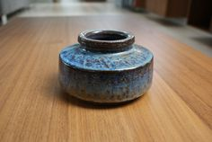 Low vase from Danish pottery Michael Andersen by Danishartpottery, Danish, Stoneware, Pots, Container, Pottery, Clay, Vase, Handmade, Stuff To Buy