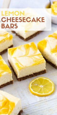 Need a crowd-pleasing spring dessert recipe? Look no further than these luscious Lemon Cheesecake Bars! Need a crowd-pleasing spring dessert recipe? Look no further than these luscious Lemon Cheesecake Bars! Mini Desserts, Spring Desserts, Spring Recipes, Easy Desserts, Delicious Desserts, Health Desserts, Spring Meals, Sweet Desserts, Plated Desserts