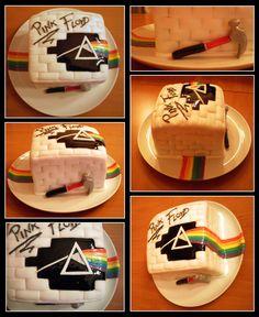 Pink Floyd rainbow cake, made for my boyfriend, as a...