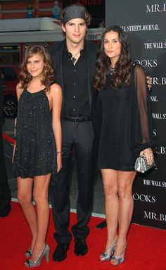 Demi Moore, Ashton Kutcher-I like the all black look. Classy; we did this for my daughter's hs graduation