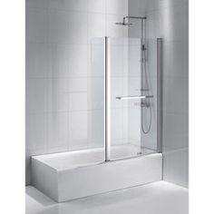 Pare-baignoire 2 volets Purity 2, verre sécurité 6 mm, transparent | Leroy Merlin