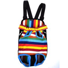 Cosmos Colorful Strip Pattern Pet Dogs Legs Out Front Carrier Bag >>> Want to know more, click on the image. (This is an affiliate link and I receive a commission for the sales) #PetDogs