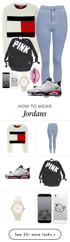 """""""❤"""" by mina-smith1 on Polyvore featuring Tommy Hilfiger, Topshop, Victoria's Secret, Fiebiger and NIKE"""