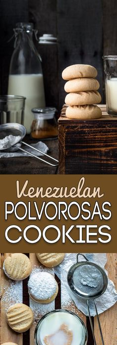 These classic Venezuelan Polvorosas Cookies are always a big hit. Easy to make, easier to eat! They're absolutely the BEST! Delicious Cookie Recipes, Yummy Cookies, Yummy Food, Venezuelan Food, Venezuelan Recipes, My Recipes, Favorite Recipes, Eggless Recipes, Sweet Recipes