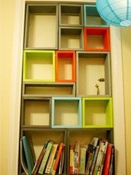 DIY: Build a Colorful Bookshelf