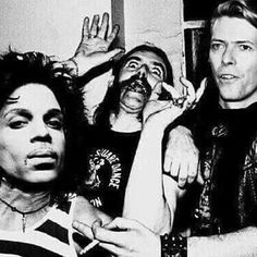 EPIC PARTY IN HEAVEN #aboutlastnight  #prince #Lemmy #Bowie #legends #icons #repost from @haute_macabre
