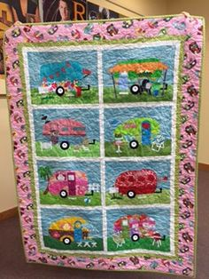 camper quilt    remembrance   grandparents    weekends spent camping