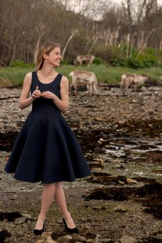 Charleston with a circle skirt | Indiesew.com