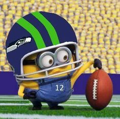 Even minions like the Seattle Seahawks ! Seahawks Football, Seattle Seahawks, Seahawks Memes, Seahawks Fans, Football Team, Football Helmets, Football Season, Nfl Seattle, Nfl Superbowl